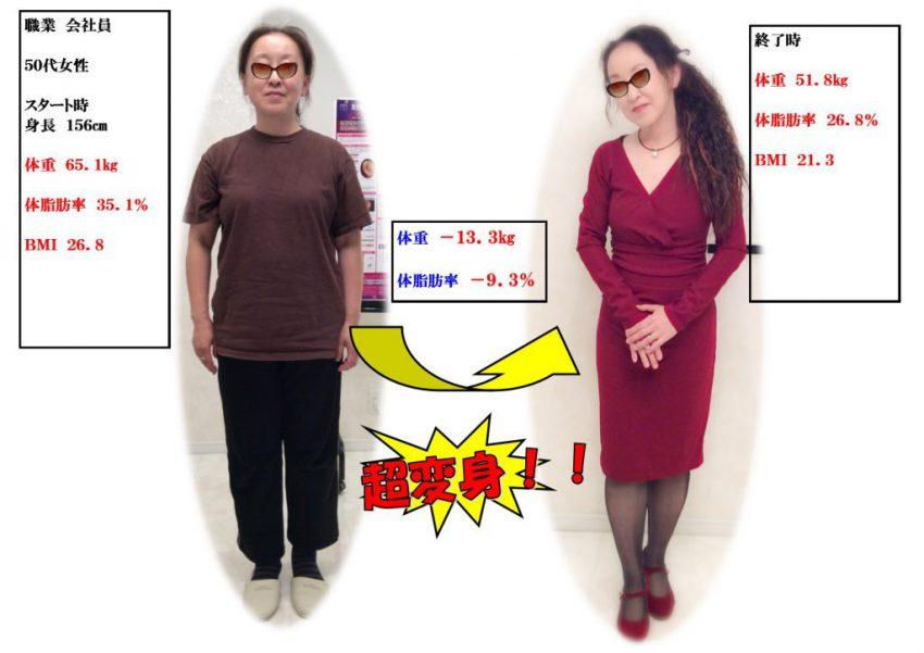 ダイエット成功、ビフォーアフター、亀岡市、京都